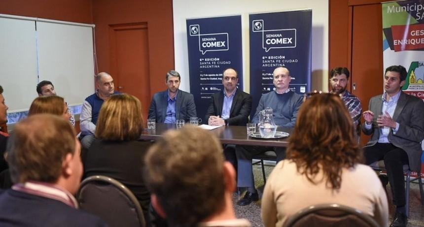 Corral encabezó la presentación de la 6ª edición de la Semana Cómex en San Justo
