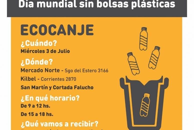 Ecocanje por el día mundial sin bolsas plásticas