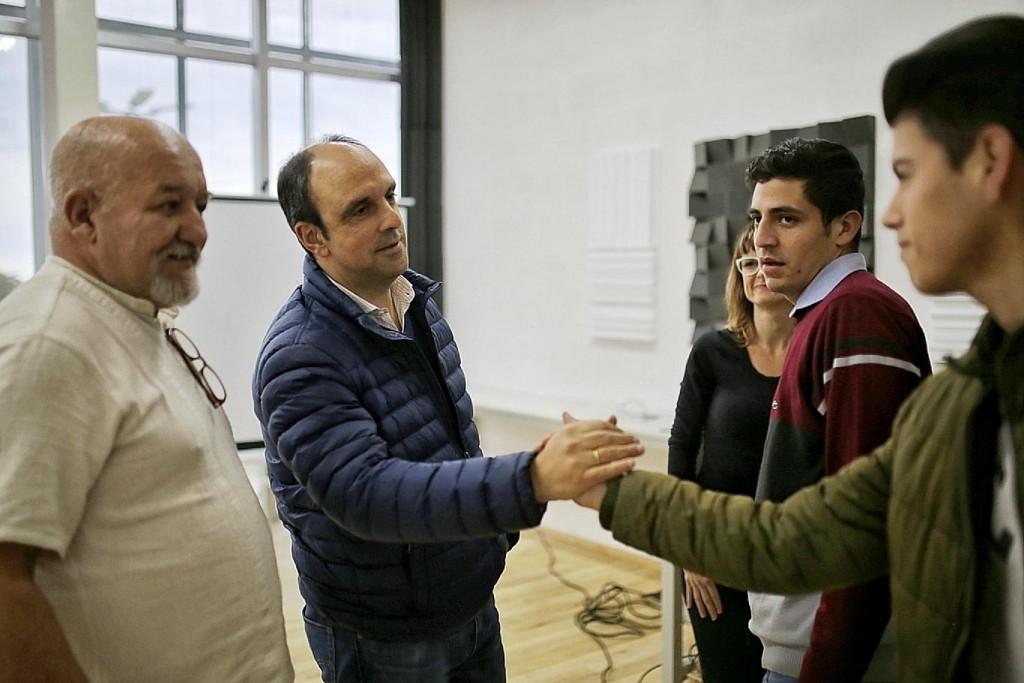 José Corral se reunió con los ganadores de Sonidos Santafesinos