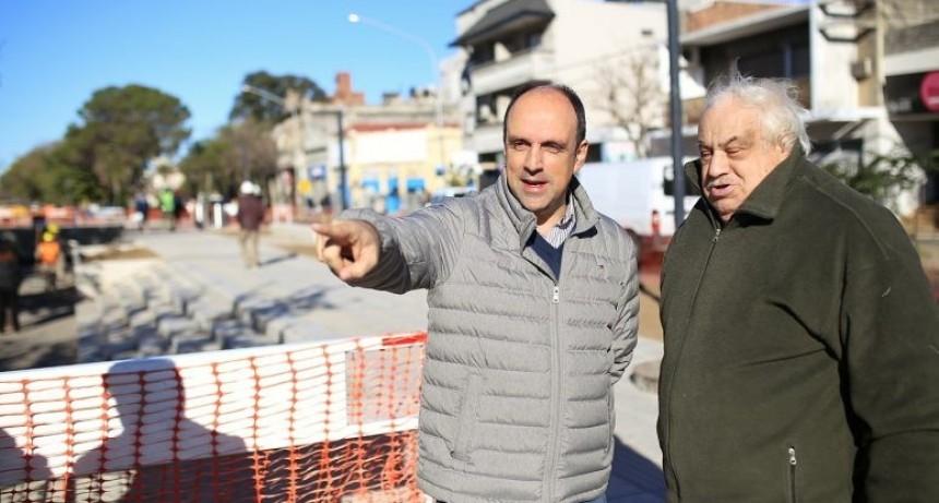 """José Corral: """"En pocos meses Freyre será la avenida más moderna de la ciudad"""""""