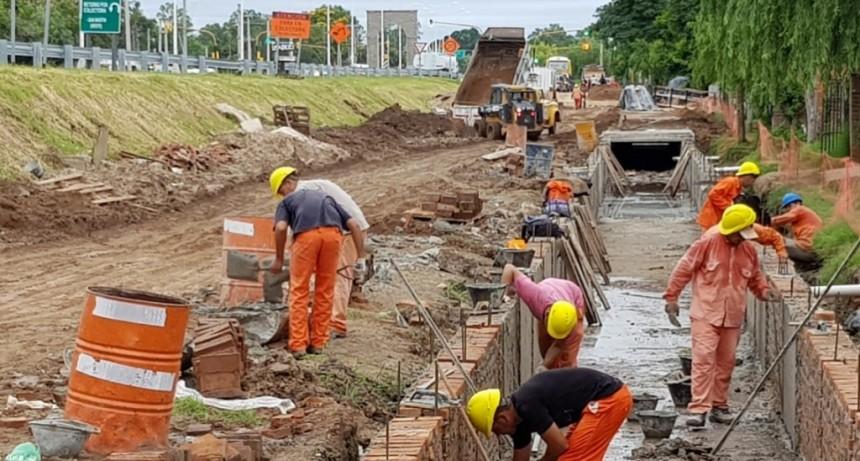 Avanzan las obras viales e hídricas en la Ruta Provincial 1