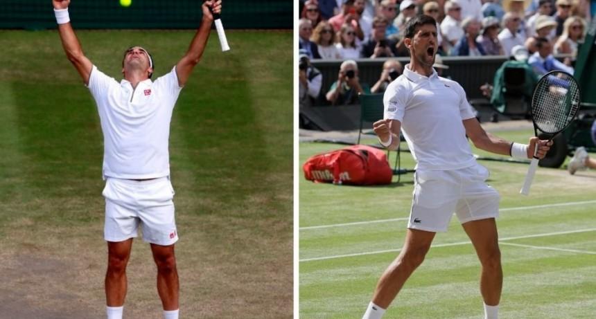 Wimbledon: cuándo juegan y por dónde Roger Federer y Novak Djokovic
