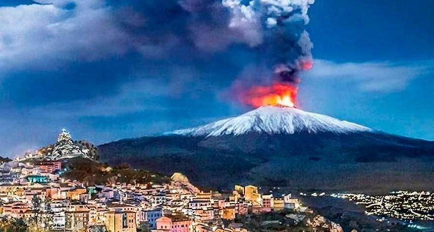 Explosivas erupciones en el volcán Etna