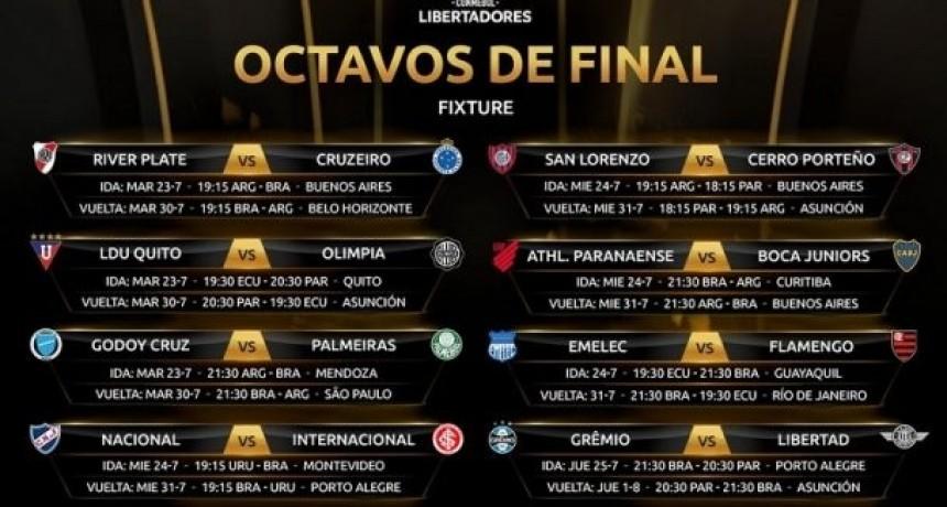 Agenda de los octavos de final de la Copa Libertadores