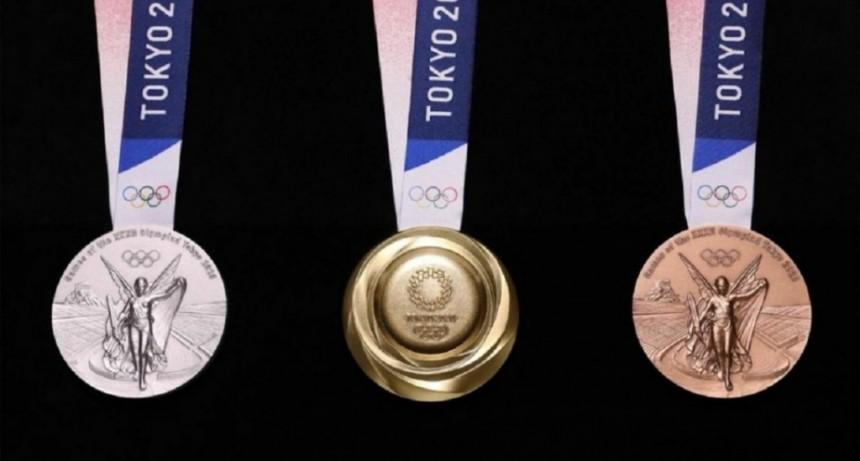 Las medallas de los Juegos Olímpicos de Tokio 2020 se hicieron con material reciclado