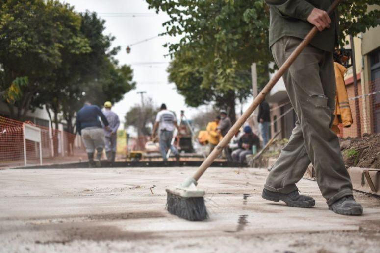 Continúan los trabajos de bacheo de la Municipalidad