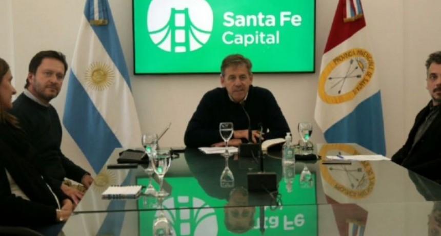 Jatón encabezó un encuentro con la Red Global de Ciudades Resilientes