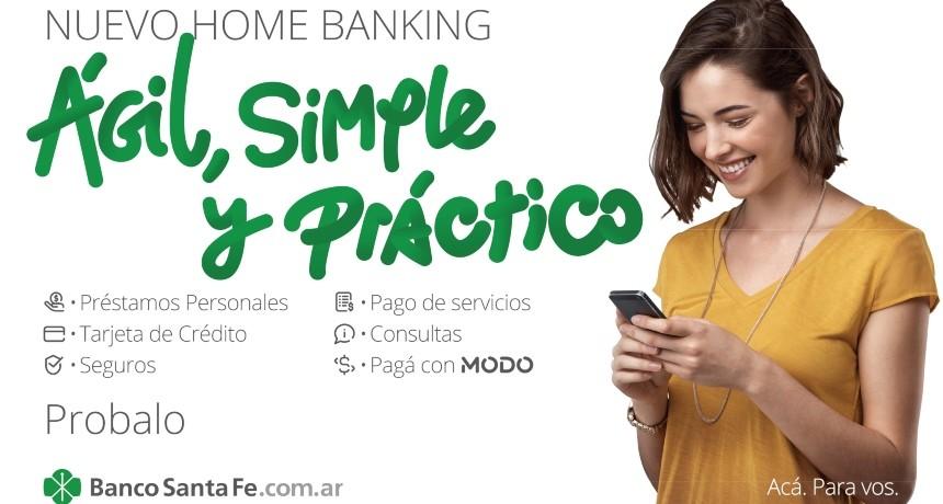 """""""Ágil, simple y práctico"""": El Banco Santa Fe presentó su nuevo Home Banking"""