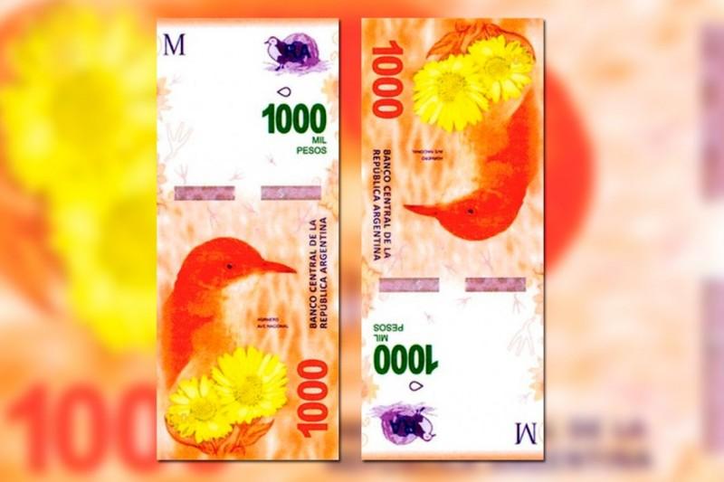 El billete de mil pesos comenzará a circular en octubre