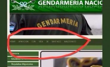 Hackearon la web de Gendarmería con un mensaje sobre Santiago Maldonado