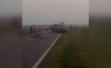 Accidente fatal en la Ruta Nacional 11, a la altura de San Justo