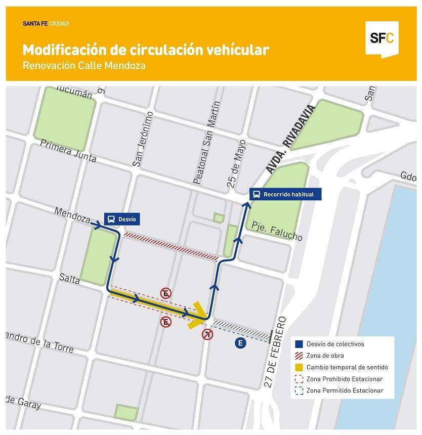 Comienza la transformación de calle Mendoza