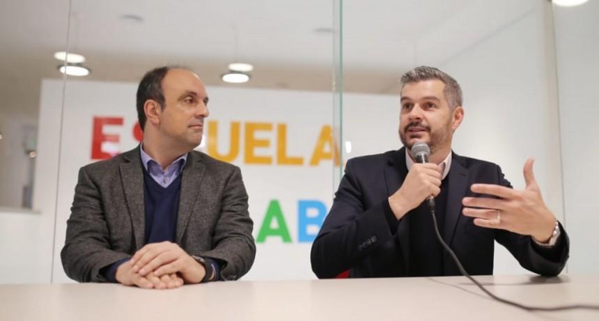 Marcos Peña se reunió con José Corral para visitar el edificio NIDO