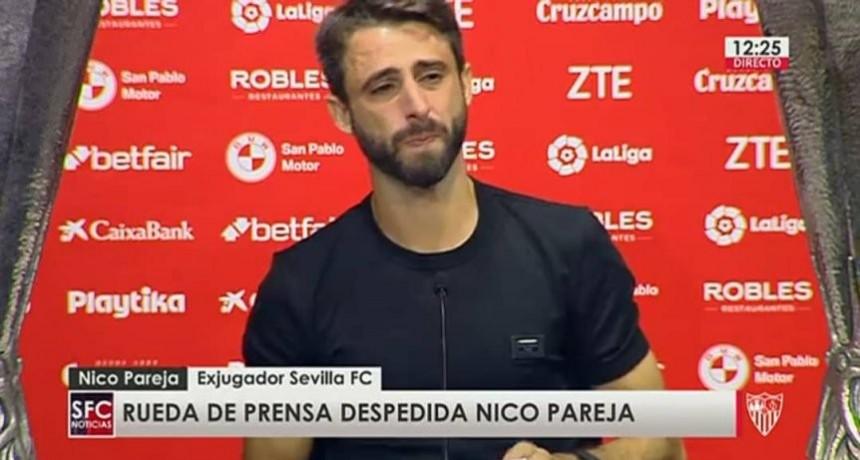 Pareja rescindió su contrato con Sevilla y se despidió entre lágrimas