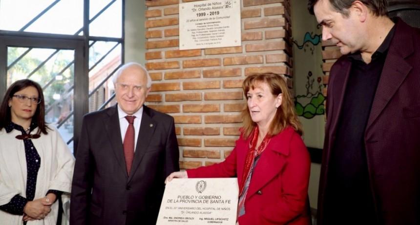 Lifschitz participó del 20 aniversario del Hospital de Niños Dr. Alassia
