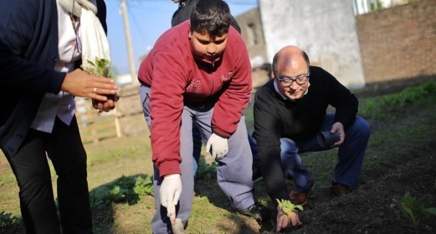 Instituciones y vecinos pusieron en marcha una huerta urbana en Santa Rosa de Lima