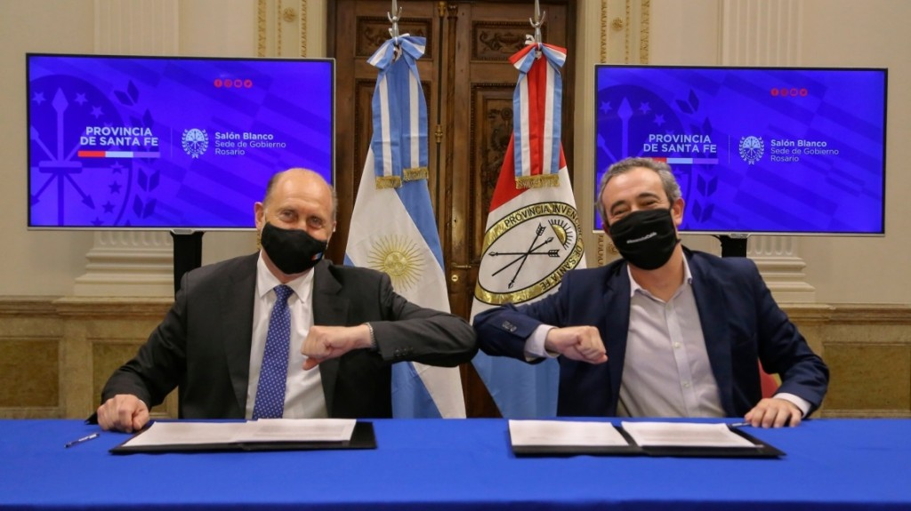 Perotti y Javkin acordaron el auxilio financiero a la municipalidad de Rosario