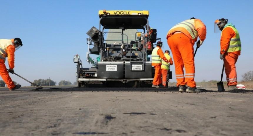 Se realizan obras en el corredor productivo Autopista Santa Fe - Rosario