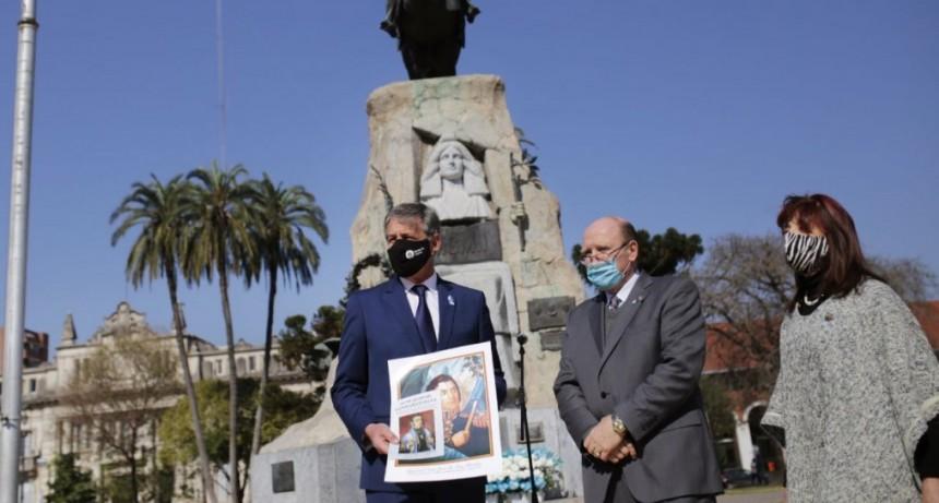 A 170 años de su muerte, Santa Fe recordó a San Martín