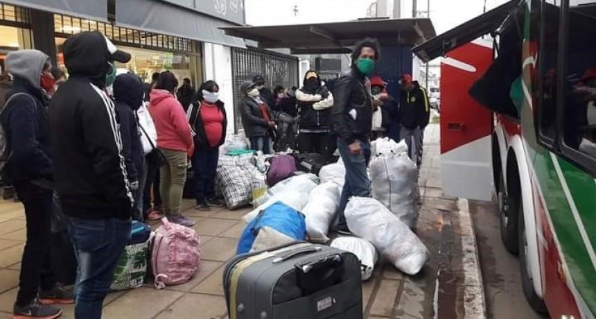 La Municipalidad facilitó que 82 personas volvieran a sus lugares de origen