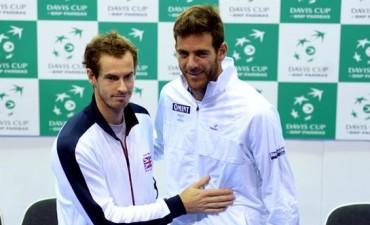 Copa Davis 2016: Juan Martín del Potro abrirá ante Andy Murray las semifinales ante Gran Bretaña