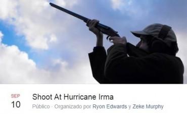 Insólito: Tuvieron que pedir que no le disparen al huracán Irma