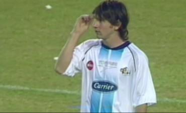 La única vez de Messi en la Bombonera