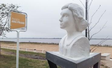 El Municipio restauró la escultura de Ana Frank