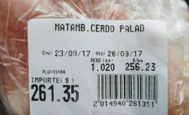 Un matambre de cerdo se vende a $ 256,23 el kilo y al productor le pagan $ 23