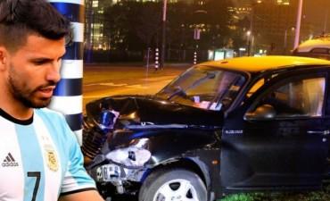 Se accidentó el Kun Aguero en Holanda