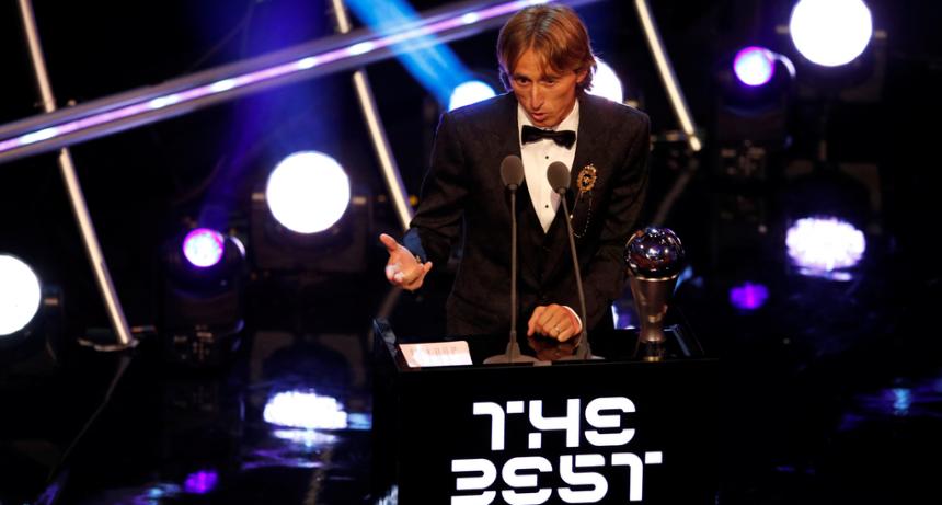 Luka Modric fue elegido como mejor jugador del año