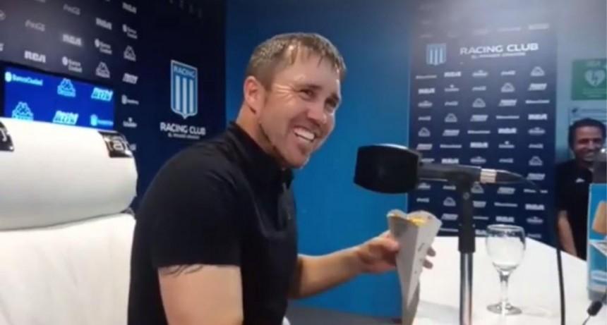 Coudet le ganó un cono de papas a un periodista