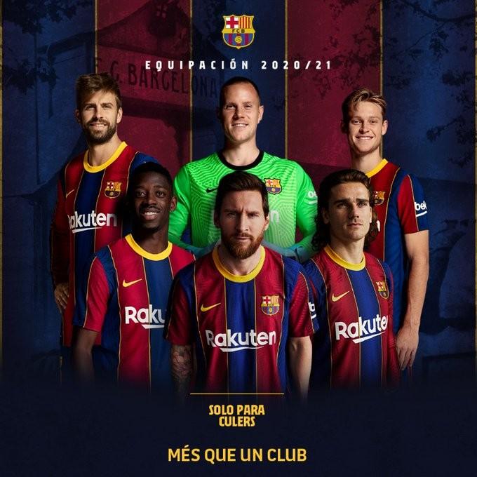 Messi aparece en la promoción de la nueva camiseta del Barcelona
