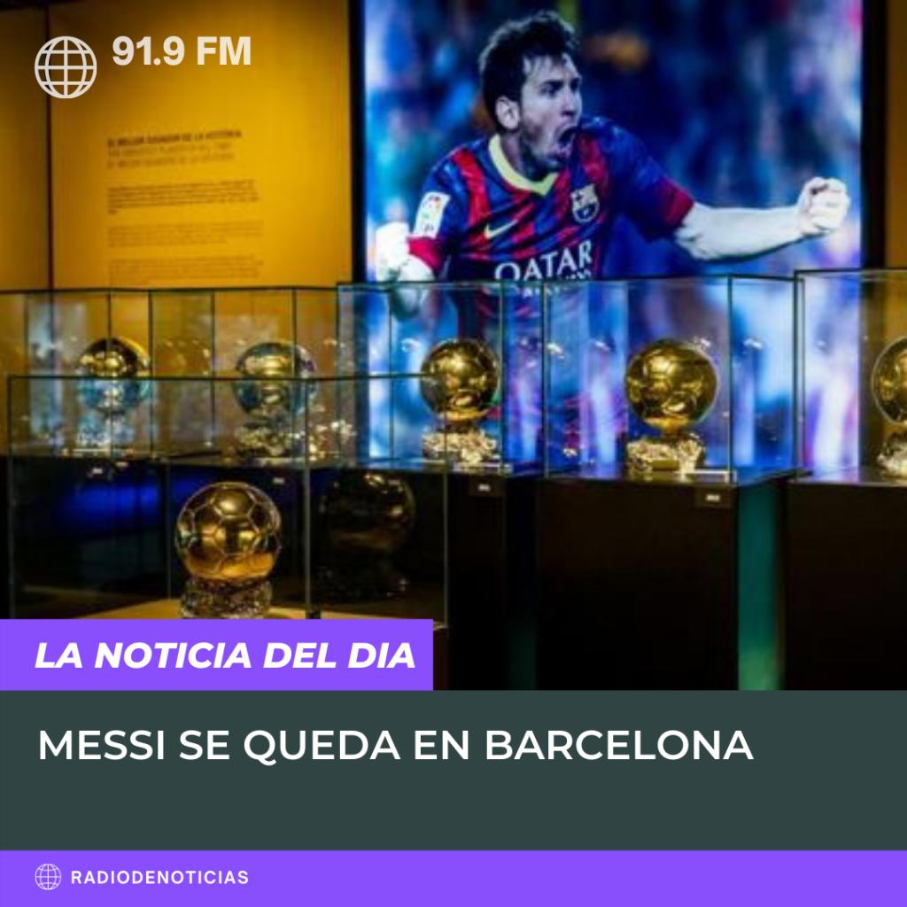 TyC anuncia que Messi se queda en el Barcelona