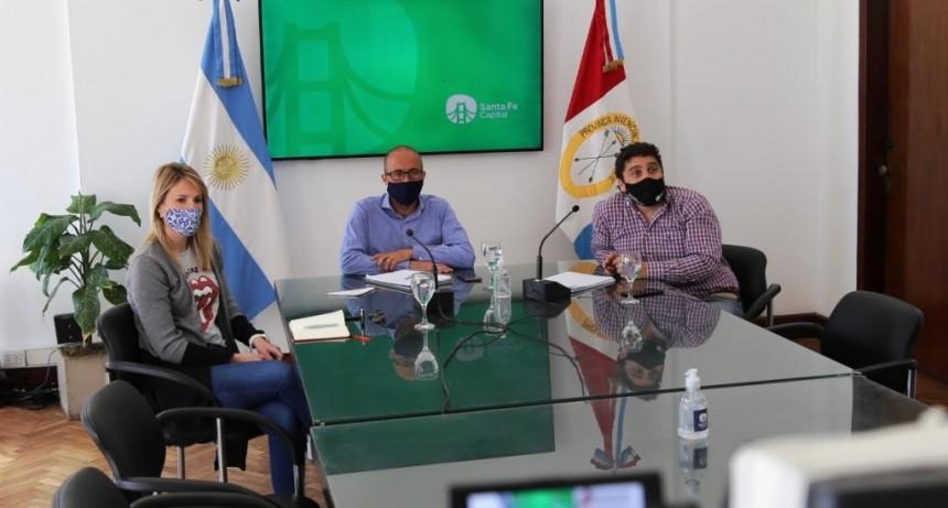 La Municipalidad se reunió con referentes de los gastronómicos y gimnasios