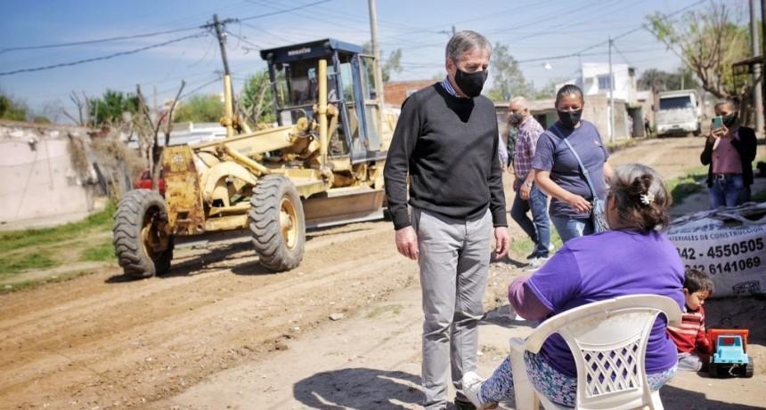 Avanzan las obras de mejoras en Barrio Pompeya