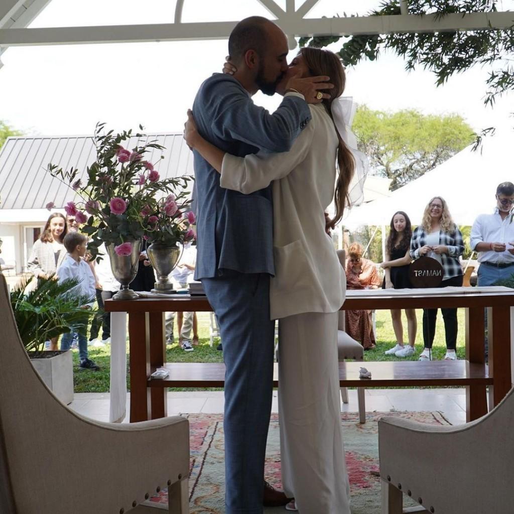 Abel Pintos se casó con Mora Calabrese en Chaco