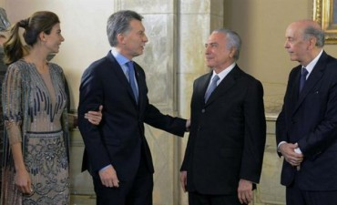 Macri y Temer se reunieron en Olivos