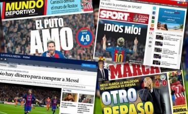 La prensa española, rendida a los pies de Lionel Messi