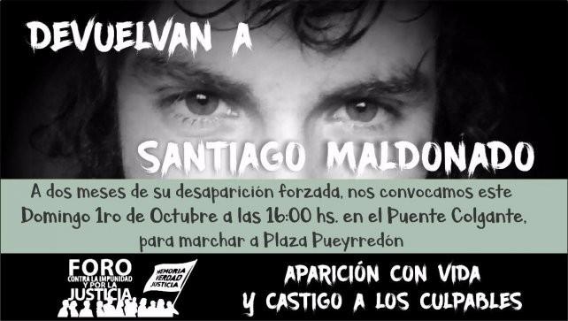 Santa Fe marcha por Santiago Maldonado