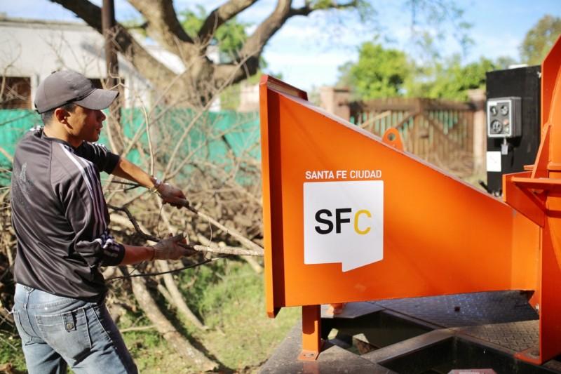 Ciudad Verde: El Municipio adquirió una chipeadora
