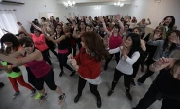 Cristina bailó en plena campaña