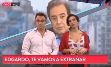Sergio Lapegüe se emocionó en vivo por la muerte de Edgardo Antoñana