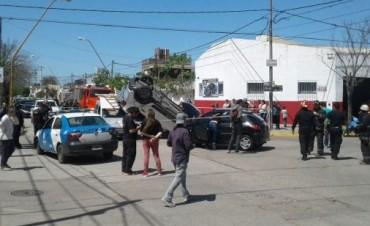 Triple choque en barrio Sargento Cabral