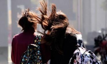 Alerta meteorológico por vientos fuertes con ráfagas