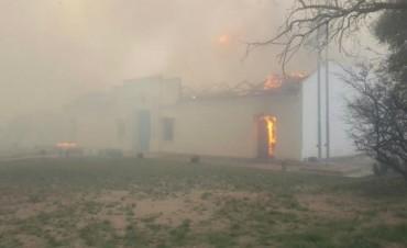 Tres incendios de gran intensidad en San Luis