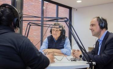 Mauricio Macri y José Corral visitaron el edificio NIDO de Barranquitas Sur