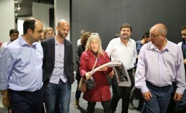 Guillermo Dietrich visitó la Ciudad y recorrió obras junto a José Corral