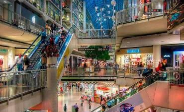 Leve aumento de ventas en shoppings y supermercados