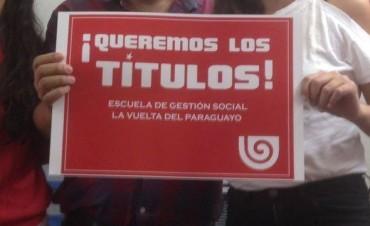 Reclaman el reconocimiento del Bachillerato de La Vuelta del Paraguayo
